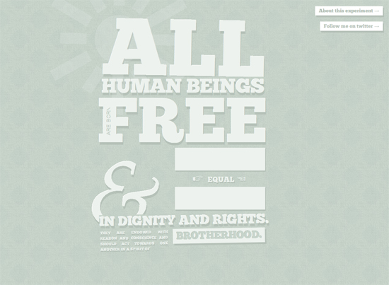 All Human Beings are Born Free