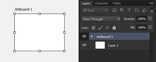 New Artboard is added and shown in the Layers panel