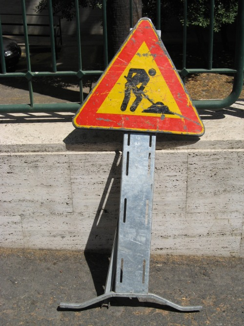 Wayfinding and Typographic Signs - roadwork-sign