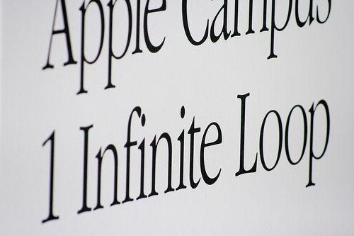 Apple Garamond signage closeup. by treviño.