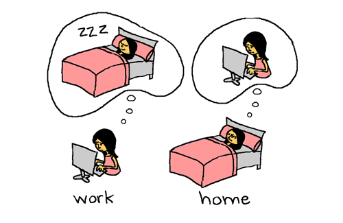 Our brains need time to calm down, so try to stop working several hours before going to bed.