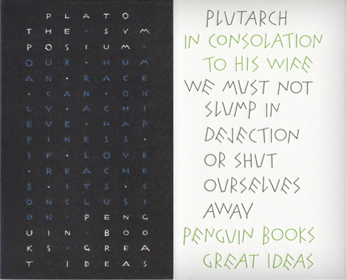 Two book typographic book covers by Pearson
