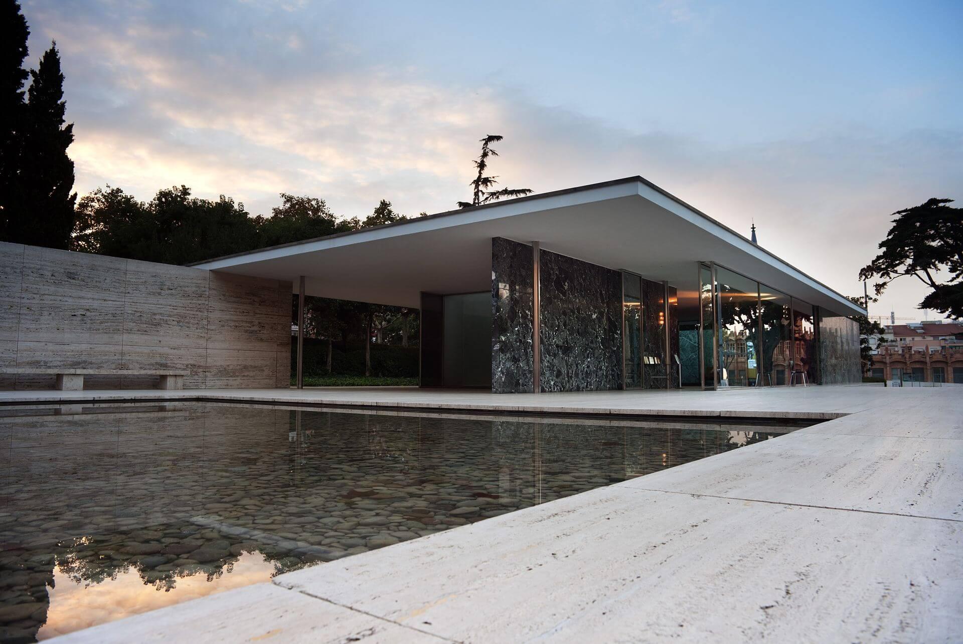 Barcelona Pavilion designed by Ludwig Mies van