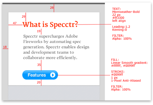 Specctr panel (Adobe Fireworks extension)