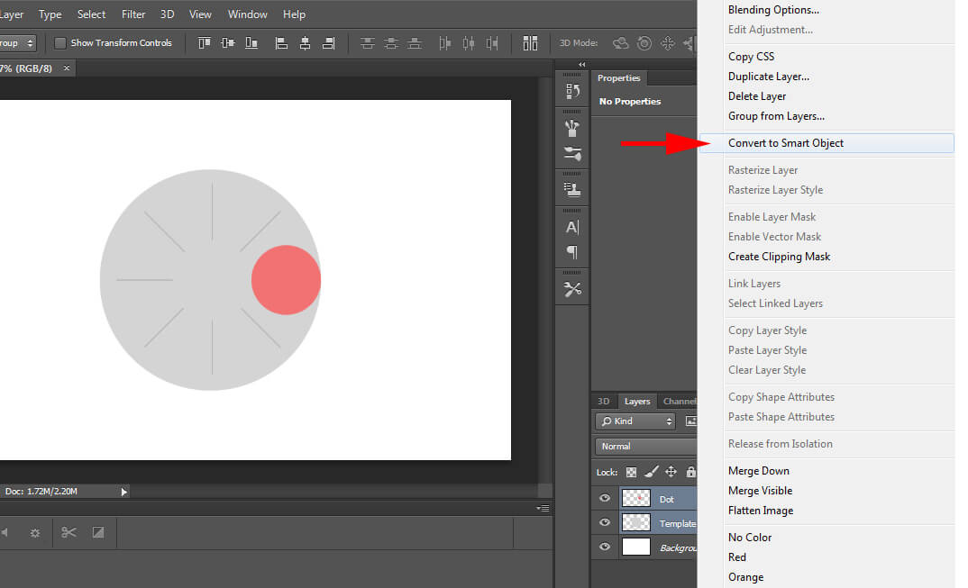 Convert Layers To A Smart Object