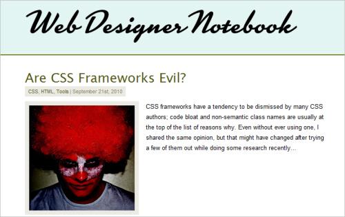 Are CSS Frameworks Evil?