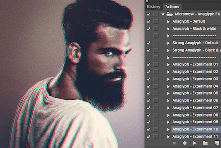 Freebie: Anaglyph Photoshop Actions