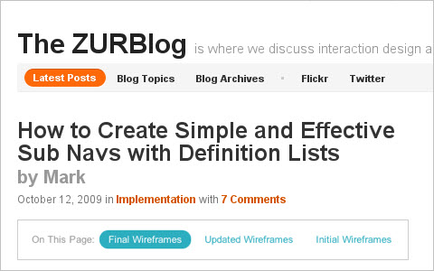How to Create Simple and Effective Sub Navs with Definition Lists