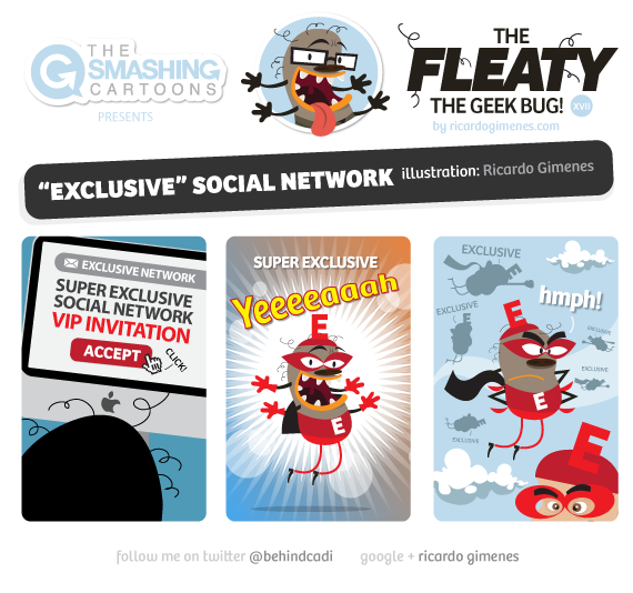 Smashing Cartoon #56: Exclusive Social Network