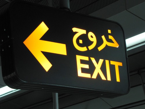 Wayfinding and Typographic Signs - tehran-metro-exit