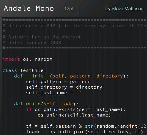 Andale Mono Screenshot