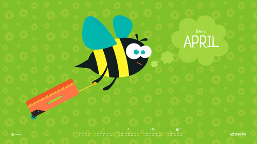 Bee in April