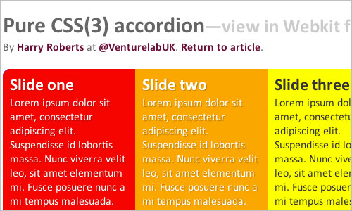 Pure CSS(3) accordion