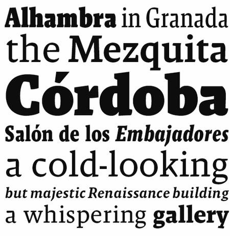 Professional Typefaces - Malaga by Xavier Dupré