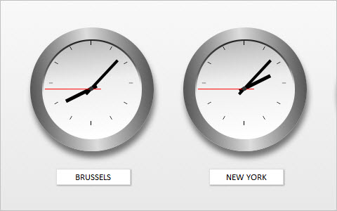 CSS World Clocks