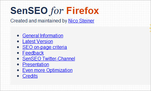 SenSEO Firefox Extension - Official Website