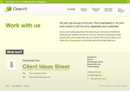 clearleft ltd - Web Design Project Ideas