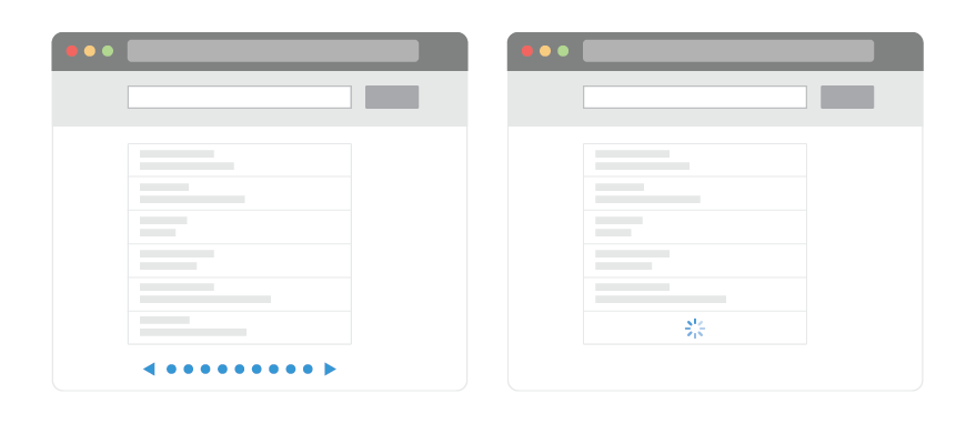 Pagination vs. Infinite Scroll