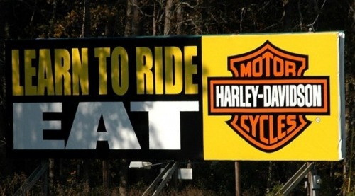 Wayfinding and Typographic Signs - harley-sign-delaware