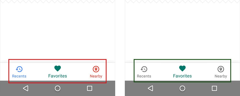 Use only one primary color insead to focus on an icon
