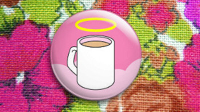 Pins, Badges and Buttons - Angel Tea badge