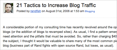 A screenshot of an article featuring some useful strategies to build up the traffic over years.