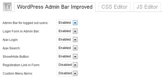WordPress Admin Bar Improved