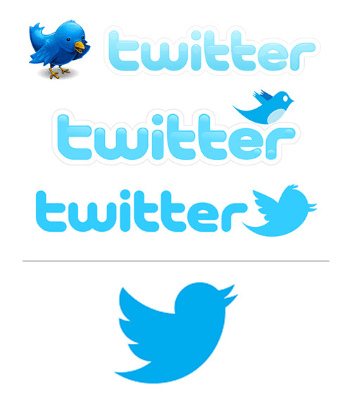 Twitter logo changes