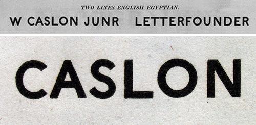 Caslon Sans