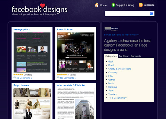design facebook page for business