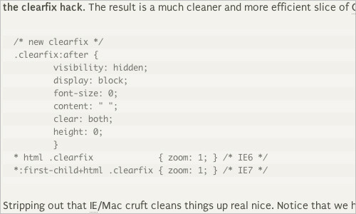 The New Clearfix Method