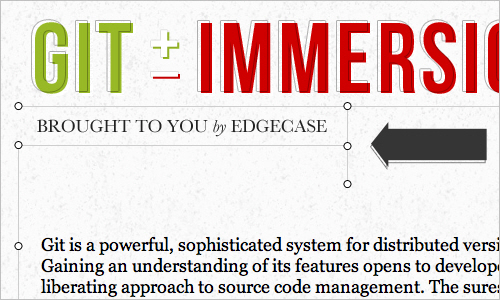 Git Immersion - Brought to you by EdgeCase