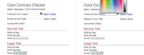 Modify colors to pass