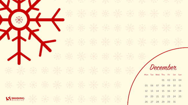 Christmas Wallpaper — Snowflakes