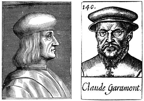Aldus Manutius and Claude Garamont