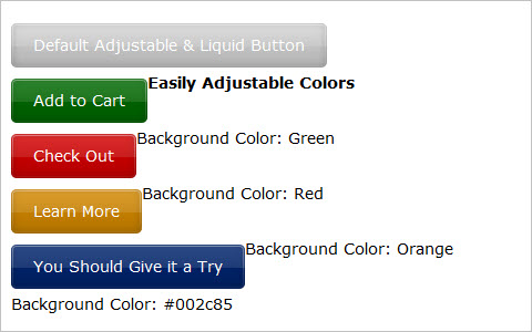 Liquid and Color Adjustable CSS Buttons