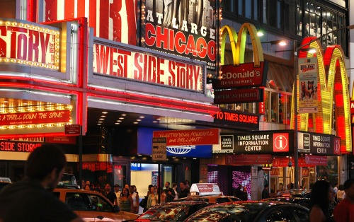 Wayfinding and Typographic Signs - broadway-at-night