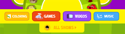 PBS KIDS Navigation Bar