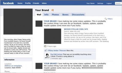 Free PSD: Facebook Fanpage Template