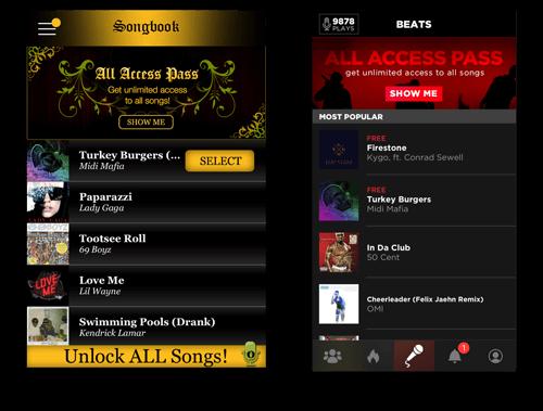 AutoRap Songbook Redesign