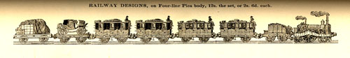 Thorowgood's 48-point Railway Ornaments of 1841.