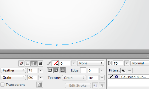 Feather edge and Gaussian Blur live filter.