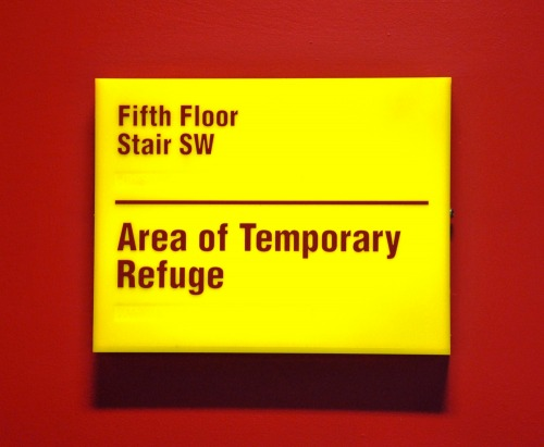 Wayfinding and Typographic Signs - refuge