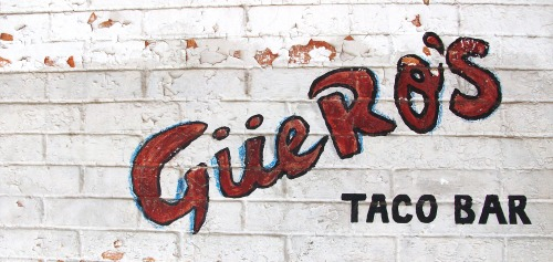 Wayfinding and Typographic Signs - tacos-on-a-hot-day