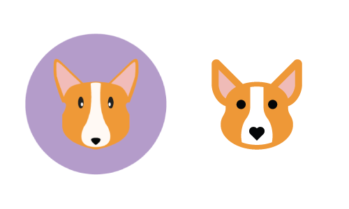 icon design - Corgi icon makeover before and after