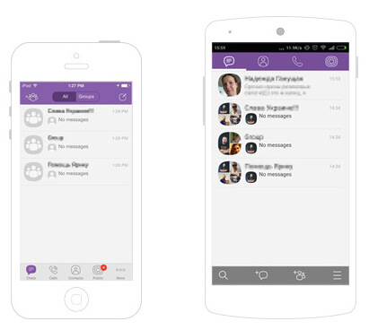 Viber for iOS and Android