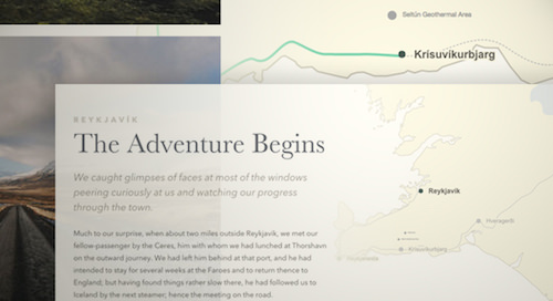 An interactive storytelling map using SVG