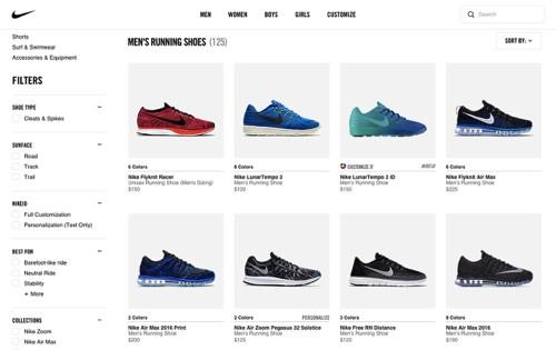 Nike website