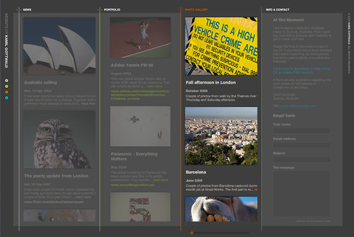 Showcase of Unusual Layouts - Kamil Gottwald - interactive developer