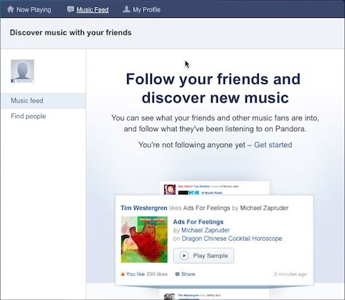 Pandora allows you to align your music tastes with others you consider in-group
